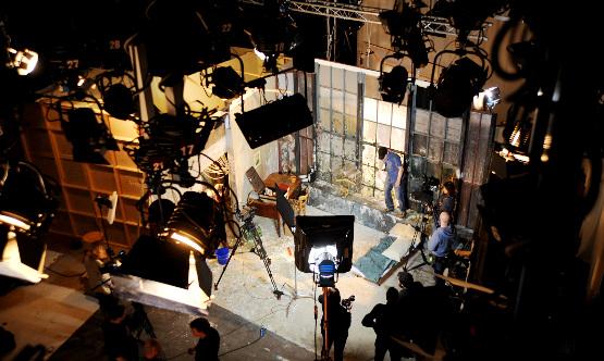 Il set di un film realizzato da Arance Meccaniche